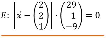 ebene koordinatenform in parameterform